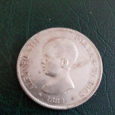 Monedas de España: 1889 *18*89 ALFONSO XIII BONITA 5 PESETAS PLATA MPM. Lote 174388363
