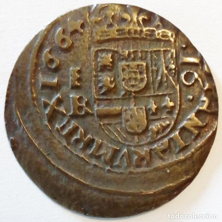 FELIPE IV 1664 SEGOVIA BR 16 MARAVEDIS (Numismática - España Modernas y Contemporáneas - De Reyes Católicos (1.474) a Fernando VII (1.833))