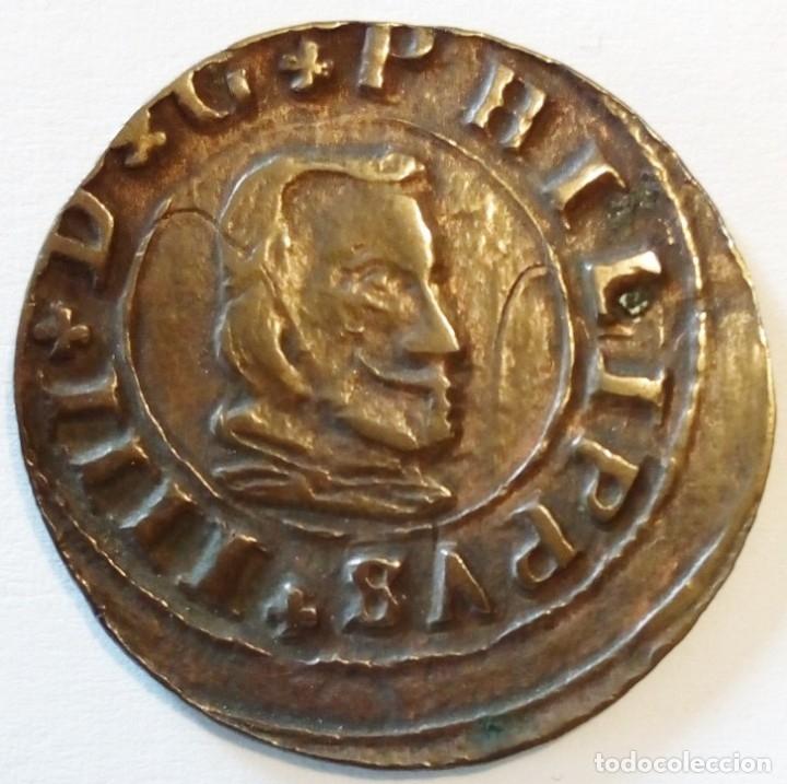 Monedas de España: Felipe IV 1664 Segovia Br 16 maravedis - Foto 2 - 174432453