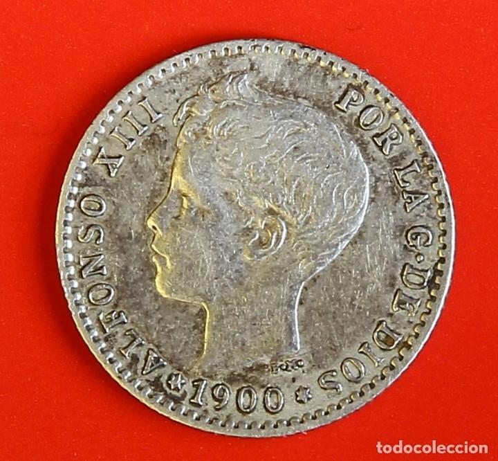 MONEDA DE 50 CENTIMOS: 1900 SMV ESTRELLAS (0)(0) MBC+ (Numismática - España Modernas y Contemporáneas - De Isabel II (1.834) a Alfonso XIII (1.931))