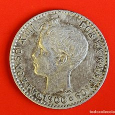 Monedas de España: MONEDA DE 50 CENTIMOS: 1900 SMV ESTRELLAS (0)(0) MBC+. Lote 174467142