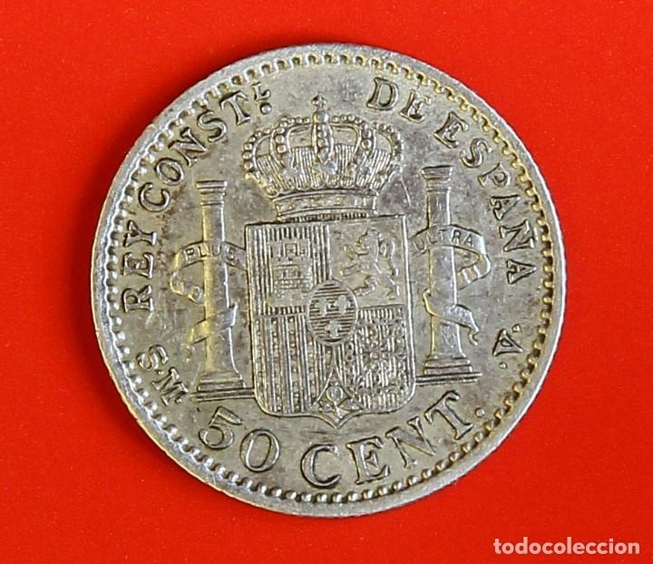 Monedas de España: MONEDA DE 50 CENTIMOS: 1900 SMV Estrellas (0)(0) MBC+ - Foto 2 - 174467142