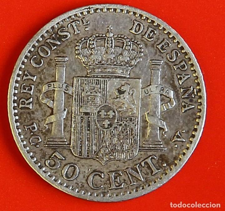 Monedas de España: MONEDA DE 50 CENTIMOS: 1904 PCV Estrellas (1)(0) MBC- - Foto 2 - 174467329