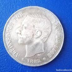 Monedas de España: MONEDA 5 PESETAS ALFONSO XII PLATA, AÑO 1882. Lote 175231965