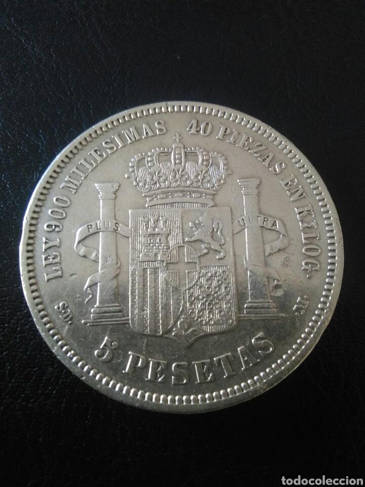 5 PESETAS,1871,ESTRELLA 71,AMADEO I (Numismática - España Modernas y Contemporáneas - De Isabel II (1.834) a Alfonso XIII (1.931))