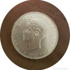 Monedas de España: ALFONSO XIII, 5 PESETAS DE 1898, (*18 *98) - EBC+, PLATA. Lote 146715722
