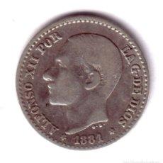 Monedas de España: ESPAÑA: 50 CENTIMOS PLATA 1881 - MS.M ESTRELLAS *8* *1*ALFONSO XII. Lote 175563434