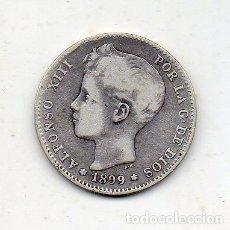 Monedas de España: ALFONSO XIII. 1 PESETA. AÑO 1899 *18 *99. PLATA.. Lote 175998147
