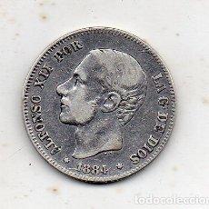 Monedas de España: ALFONSO XII. 2 PESETAS. AÑO 1884. PLATA.. Lote 175999583