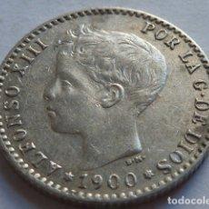 Monedas de España: MONEDA DE PLATA DE 50 CENTIMOS ALFONSO XIII DE 1900 ESTRELLAS * 0 0 FLOJAS, SM V. Lote 176098785