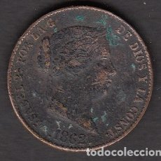 Monedas de España: MONEDA ISABEL II -25 CENTIMOS 1862 SEGOVIA. Lote 176167017