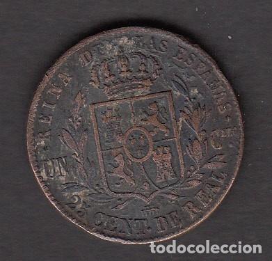 Monedas de España: MONEDA ISABEL II -25 CENTIMOS 1862 SEGOVIA - Foto 2 - 176167017