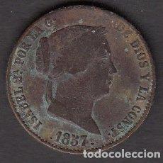Monedas de España: MONEDA ISABEL II 25 CENTIMOS 1857 SEGOVIA. Lote 176169644