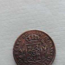 Monedas de España: 10 CÉNTIMOS DE REAL, ISABEL II, 1863. Lote 176209082