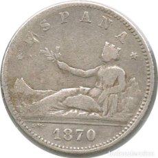 Monedas de España: [CF2412A] ESPAÑA 1870, 1 PTS, GOBIERNO PROVISIONAL - PLATA (VF). Lote 176310940
