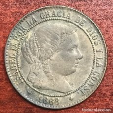 Monedas de España: MONEDA 2 CENTIMOS Y MEDIO DE ESCUDO ISABEL II 1868 OM JUBIA. Lote 176375540