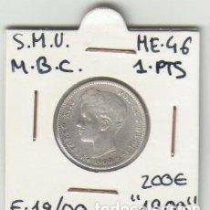 Monedas de España: MONEDA PLATA 1 PESETA 1900 ALFONSO XII. Lote 176460814