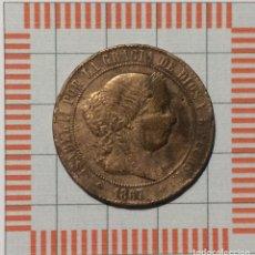 Monnaies d'Espagne: 5 CÉNTIMOS DE ESCUDO, ISABEL II. JUBIA, 1867. Lote 190820247