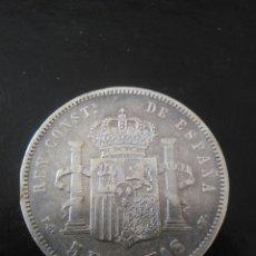 Monedas de España: 5 PESETAS, ALFONSO XIII, 1894,PGV. Lote 176570095