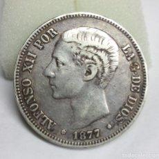 Monedas de España: MONEDA DE PLATA - 5 PESETAS DE 1877, ALFONSO XII. Lote 176673723