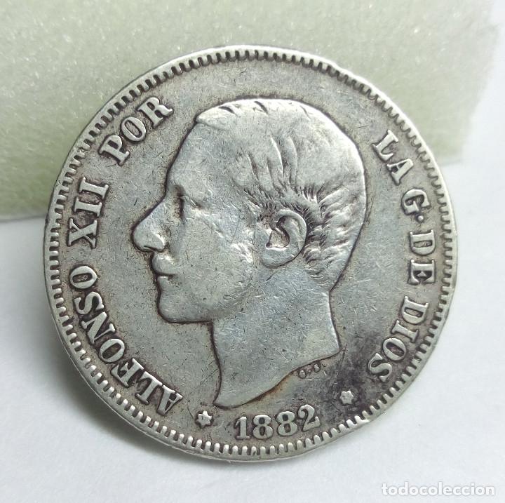 MONEDA DE PLATA - 2 PESETAS DE 1882, ALFONSO XII (Numismática - España Modernas y Contemporáneas - De Isabel II (1.834) a Alfonso XIII (1.931))