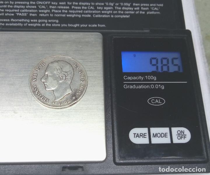 Monedas de España: MONEDA DE PLATA - 2 PESETAS DE 1882, ALFONSO XII - Foto 3 - 176674127
