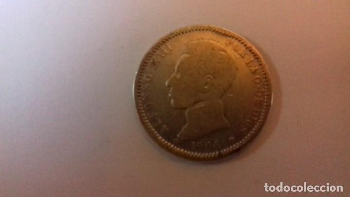 Monedas de España: Moneda de plata de ALFONSO XIII del año 1904 - Foto 3 - 176693949