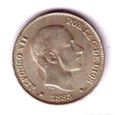 Monedas de España: ESPAÑA 50 CENTAVOS DE PESO PLATA 1885 - REY ALFONSO XII MANILA CALIDAD S/C. Lote 176855533