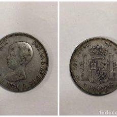 Monedas de España: ALFONSO XIII. 5 PESETAS. AÑO 1889. PLATA. 24.7 GR. MPM.. Lote 176887413