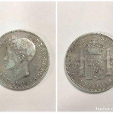 Monedas de España: ALFONO XIII. 5 PESETAS. AÑO 1898. PLATA. 24.8 GR. S.G.V. . Lote 176890402