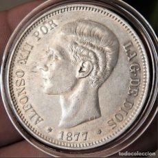 Monedas de España: ESPAÑA - ALFONSO XII - 5 PESETAS 1877 *18-77 DEM – PLATA EBC+. Lote 176907947