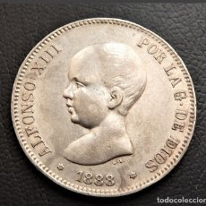 Monedas de España: ESPAÑA - ALFONSO XIII - 5 PESETAS 1888 *18-88 MPM - PLATA EBC+. Lote 176908049