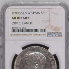 Monedas de España: ESPAÑA ALFONSO XIII 1899 ESTRELLAS 18-99 PLATA- CERTIFICADA NGC. Lote 176908779