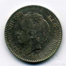 Monedas de España: ALFONSO XIII - 50 CENTIMOS 1894 (*9-4) MADRID PG V - EBC. Lote 176965937