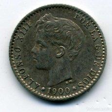 Monedas de España: ALFONSO XIII - 50 CENTIMOS 1900 (*0-0) MADRID SM V - EBC. Lote 176966237