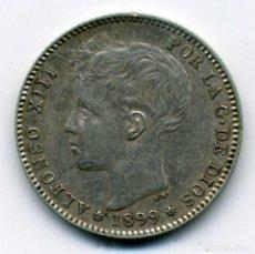 Monedas de España: ALFONSO XIII - 1 PESETA 1899 (*18-99) MADRID SG V - EBC. Lote 176967157