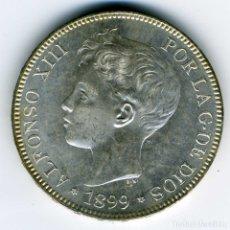 Monedas de España: ALFONSO XIII - 5 PESETAS 1899 (*18-99) MADRID SG V - SC. Lote 176991393