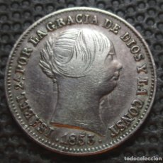 Monedas de España: 1 REAL 1853 BARCELONA ISABEL II -PLATA-. Lote 177044750
