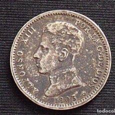 Monedas de España: MONEDA. ALFONSO XIII. PLATA. 1 PESETA. 1903. Lote 177178140