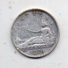 Monedas de España: REPÚBLICA ESPAÑOLA. 1 PESETA. AÑO 1870 *18 *73. DE-M. PLATA.. Lote 177194777