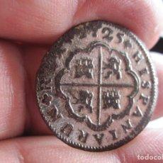 Monedas de España: MONEDA DE DOS REALES FALSA DE EPOCA FELIPE V 1725 CECA DE SEVILLA. Lote 177267918