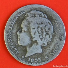 Monedas de España: MONEDA DE 1 PESETA: 1893 PGL ESTRELLAS (--)(--) BC+/-. Lote 177417224