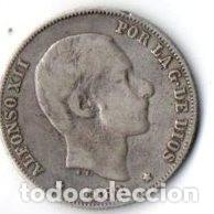 Monedas de España: 20 CS. DE PESO DE MANILA. ALFONSO XII 1.882 DE PLATA, MBC. - Foto 2 - 177489593