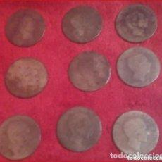Monedas de España: ALFONSO XII 10 CENTIMOS (9 MONEDAS) LOTE MONEDAS. Lote 177489639