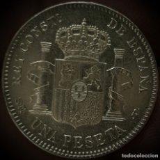 Monedas de España: ESPAÑA 1 PESETA ALFONSO XIII 1900 ESTRELLAS 19-00 SM V – PLATA 3102. Lote 177616072