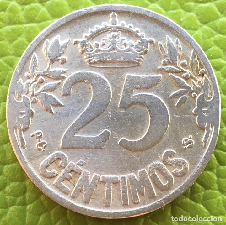 Monedas de España: ALFONSO XIII. 25 CÉNTIMOS. 1925 - Foto 2 - 177686692