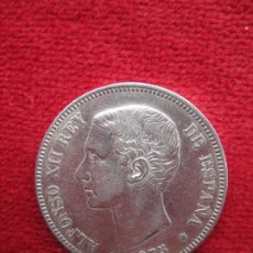 Monedas de España: MONEDA DE PLATA DE ALFONSO XII 1875 DE 5 PTS. MODELO 635 DEM.75. Lote 177851094