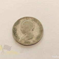 Monedas de España: MONEDA DE 1 PESETA DE ALFONSO XIII - 1891. Lote 177875049