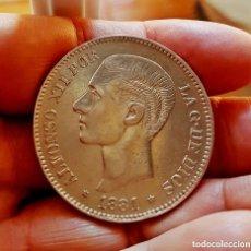 Monedas de España: ALFONSO XII, 5 RARAS PESETAS DE 1881, (*18 *81) - MSM - PLATA - SIN CIRCULAR - ¡MUY ESCASA!. Lote 177938935