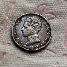 Monedas de España: ALFONSO XIII, 1 ESCASA PESETA DE 1903 (*19 *03) - SMV - PERFECTA - PLATA. Lote 177974495